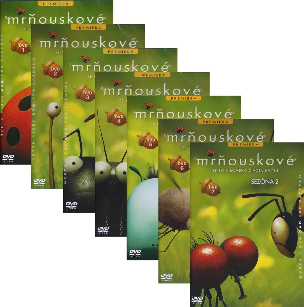 DVD Mrňouskové sada (7 DVD)