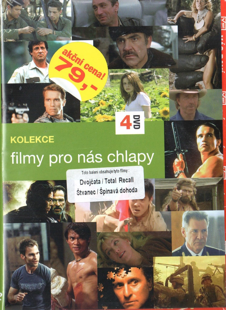 DVD kolekce Filmy pro nás chlapy - Dvojčata / Total Recall / Štvanec / Špinavá dohoda