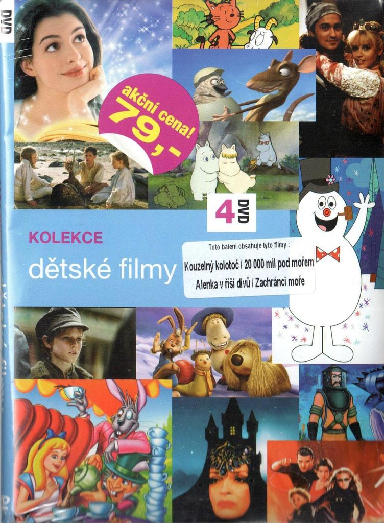 DVD kolekce Dětské filmy - Kouzelný kolotoč / 20 000 mil pod mořem / Alenka v říši divů / Zachránco moře