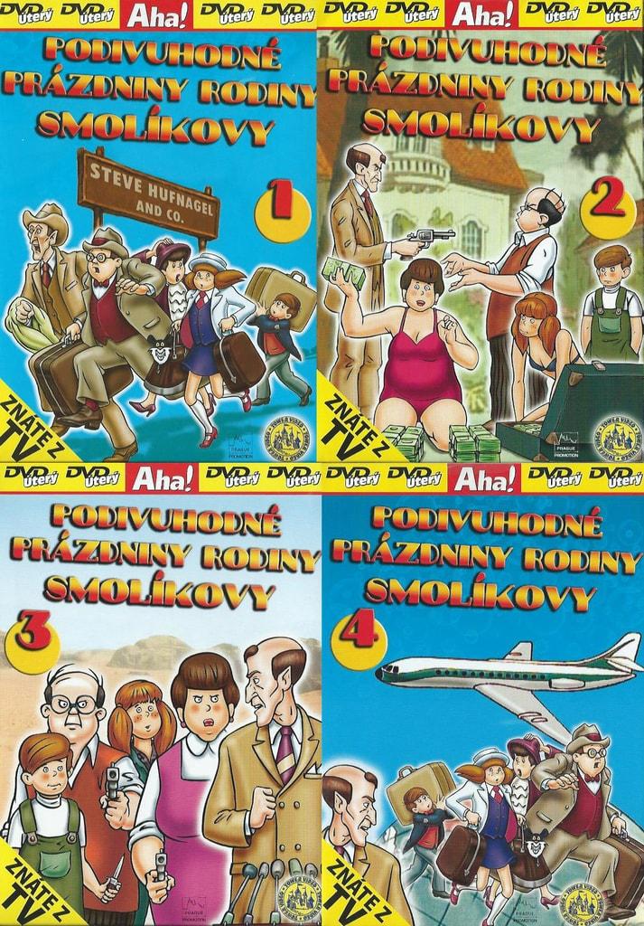DVD Podivuhodné prázdniny rodiny Smolíkovy (4x DVD)