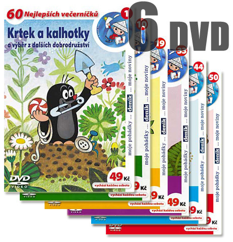 DVD Krteček sada