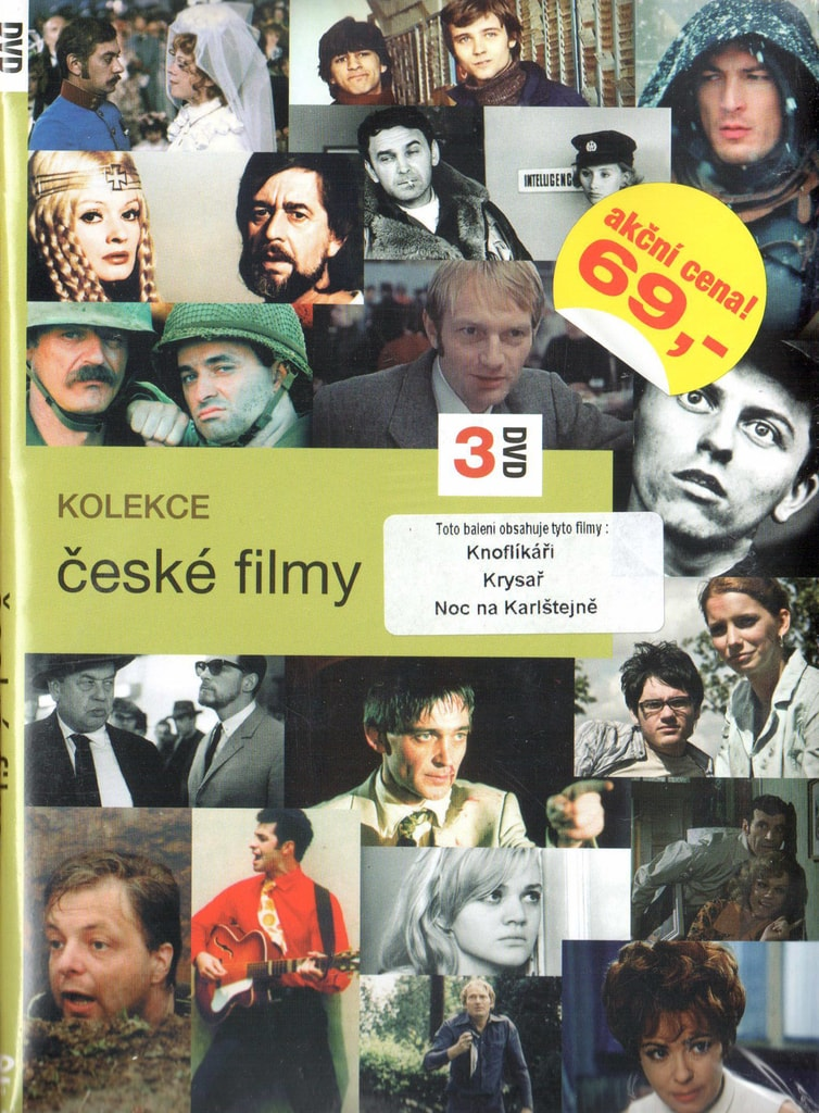DVD kolekce České filmy - Knoflíkáři / Krysař / Noc na Karlštejně